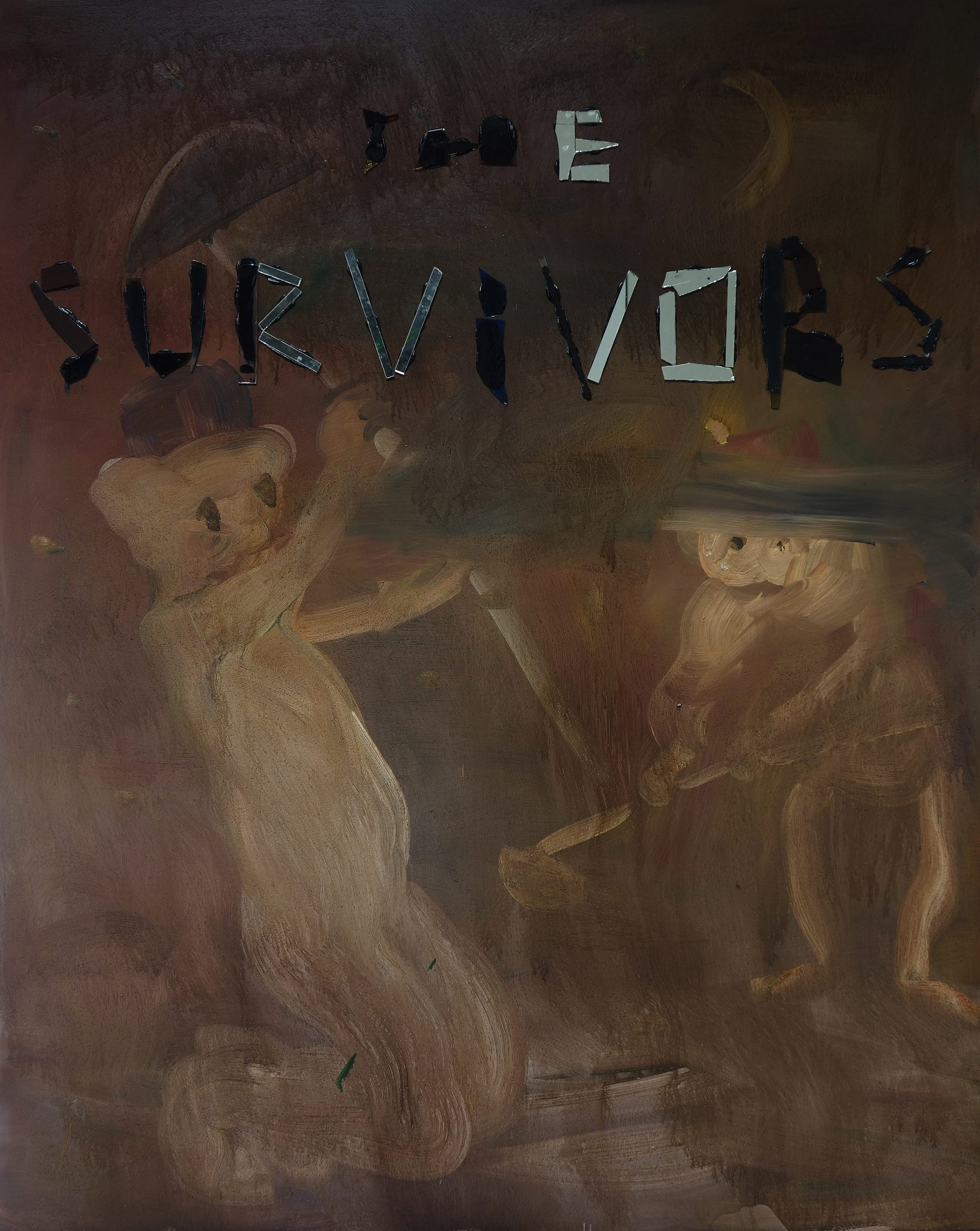 """Survivors"", painting, 150X125"